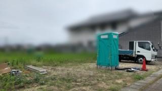 新築現場のトイレ